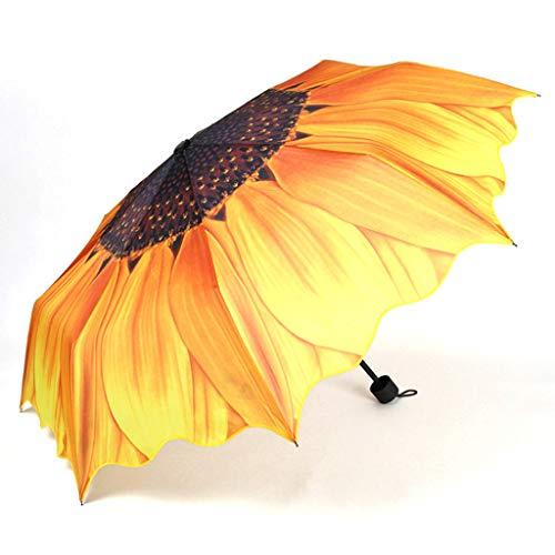 Parapluie pliant de voyage Parapluies compactes antidérapantes antidérapantes caoutchoutées pour les affaires et les voyages Parasol Femme (Color : Yellow)