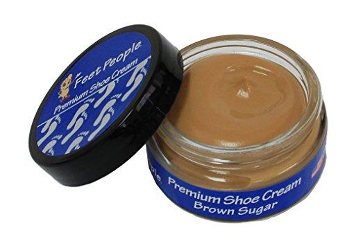 FeetPeople Premium Shoe Cream 1.5 oz, Brown Sugar