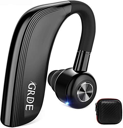 Bluetooth Headset Handy 25 Stunden Business Headset Bluetooth V4.2 Bluetooth Kopfhörer Sport mit Lärmreduzierung Freisprechen HD Mikrofon für Business Büro Fahren Joggen usw