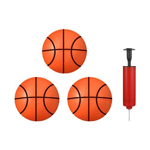 TOYANDONA Mini-Pool-Basketballball, 10,2 cm, 3 Stück aufblasbare Bälle, Gummi-Basketball für Kleinkinder, Kinder, Teenager, Outdoor, Strand, Sport, Spiel, mit Pumpe (zufällige Farbauswahl)