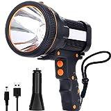 ricaricabile 7800 lu super led luminoso searchlight spotlight impermeabile luce led torcia 6600 mah torch lantern flashlight (black)