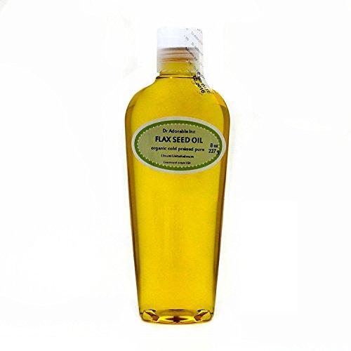 Flax Seed Oil Organic Pure 8 Oz