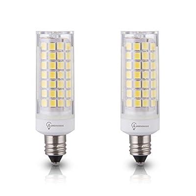 LumenBasic E11 LED Bulb 75 Watts Replacement Mini Candelabra Base 650 Lumens