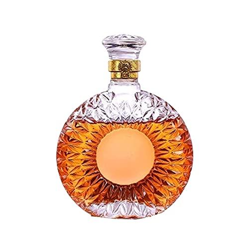 Licorera Sencillez 500ML Whisky Decanter Vidrio Vino Botella Cristal Cerveza Contenedores Botella Hogar Herramientas 15.5X20CM CHENGYI
