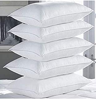 Shilpi Impex Microfibre Filled 17'' X 27 '' Pillows for Sleeping , White, Set of 5