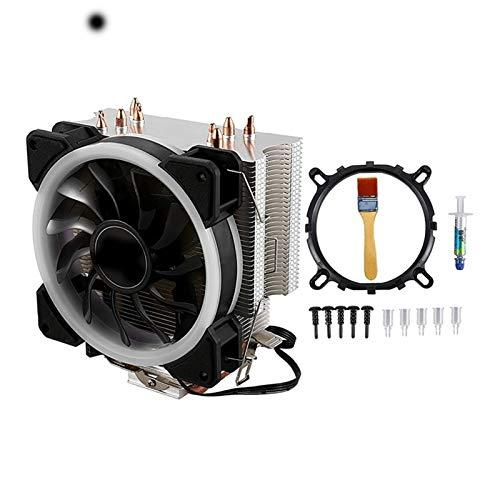 NINGXUE-MAOY Sistema De Enfriamiento De CPU Contacto Directo con CPU Cooler Principal Tubo De Calor Torre De Congelación CPU Refrigeración RGB Fan con Ventilador PWM