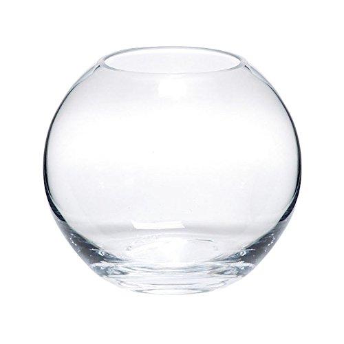 Glasvase GLOBE Glas Vase Tischvase Blumenvase rund, Ø 25 cm