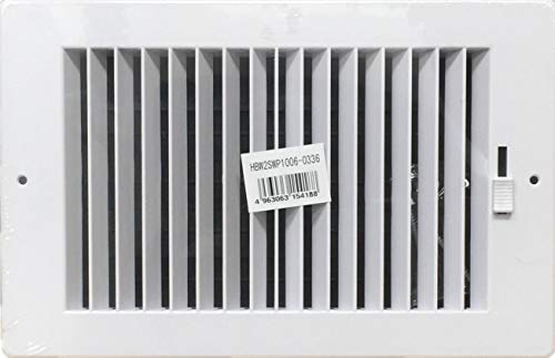Two-way plastic side wall/ceiling register in white 10