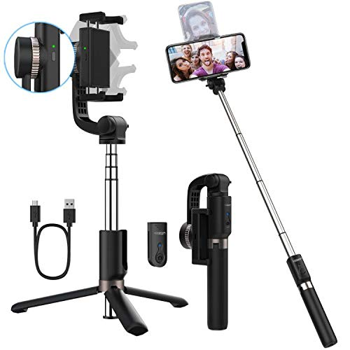 Yoozon Gimbal Selfie Stick Stativ elektrisch mit Stabilisator und Fernbedienung,3 in 1 Anti-Shake Stabilizer erweiterbar Selfie Stange Monopod kabellos für alle Android Smartphones