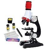 Hanone Microscopio para niños Juego de 1200 Veces Experimento científico Material didáctico Juguetes de Ciencia Microscopio de enseñanza de biología para niños