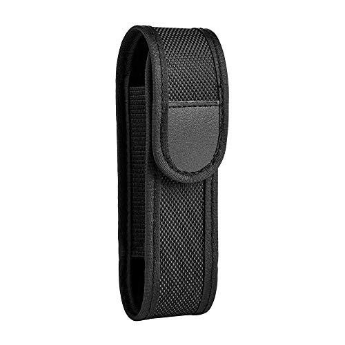 Flashlight Holster Nylon Belt Holster For Straight Shape 3' - 4' Mini Flashlight Durable Tacktical Pouch with Velcro & Elastic Sides