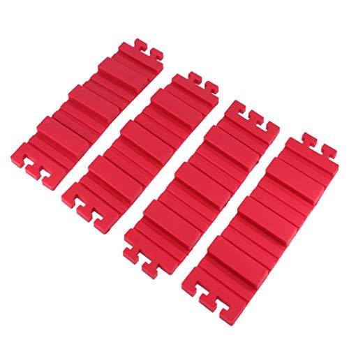 Hemoton 4 Stücke Silikon Backform Magie Backen Schlangen Kuchenformer Antihaft DIY Backform Werkzeuge für DIY Dessert (Rot)