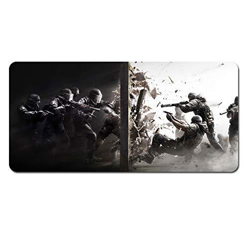 IGZNB Battlefield 5 700X300Mm Mouse Pad para Teclado, Tapete para Mouse para Juegos Profesional XXL De Gran Tamaño con Base De 3Mm De Espesor, para Notebooks, Pc, V