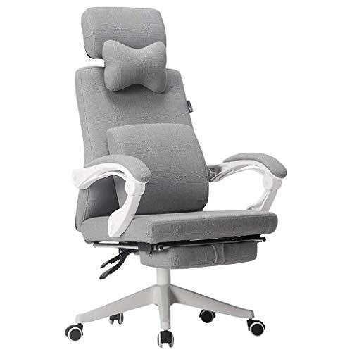Comif- Chaise d'ordinateur de Maille, Chaise de Bureau Ergonomique, Appui-tête réglable, inclinable à 170 ° avec Repose-Pieds, capacité de Charge élevée [Certification BIFMA/SGS]