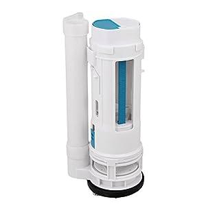 Yibuy 65-75mm Drain Dia Toilet Cistern Válvula de botón de doble descarga