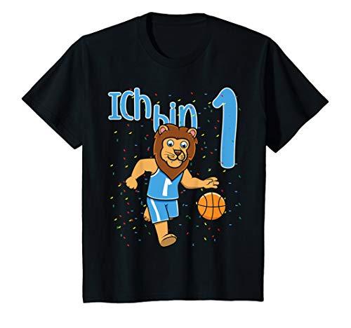 Kinder Erster 1. Geburtstag Löwe Basketball Ich Bin Eins 1 T-Shirt