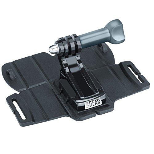 USA Gear Soporte de Cámara de Acción Adhesiva Grande con Base de Sujeción y Adaptador de Tornillo de Trípode y Gancho J Incluido - Compatible con GoPro HERO6 Black, YI 4K, AKASO EK7000 y más