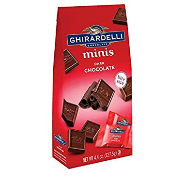 Ghirardelli Minis Pouch, Dark Chocolate, 4.4 oz (Pack Of 6)