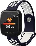 AMBM Smart Watch 1 3 pulgadas pantalla grande a color IP68 impermeable fitness pulsera sueño multi-deportes contador fitness Tracker desgaste diario/negro y rojo azul y blanco