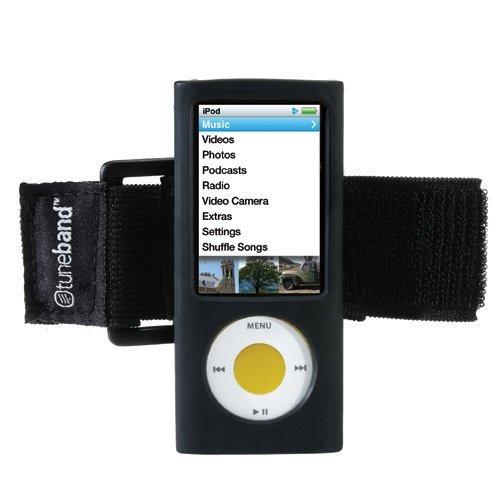 TuneBand for iPod nano 5th Generation (Model A1320, Rear Camera), Premium Armband, Compatible with Nike+iPod, BLACK