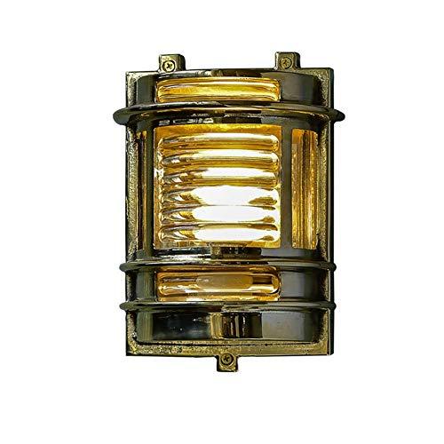 GYPPG Lámpara de Pared de latón, Dormitorio Lámpara de Noche Sala de Estar Pasillo Lámpara de Escalera Lámpara de Pared Lámpara de Pared Interior E27 Decorativo Antiguo IP20 220-240V