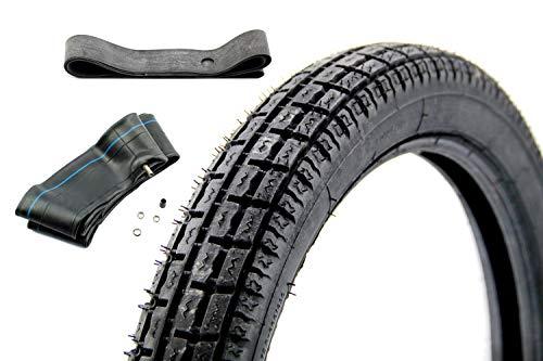 SET Heidenau K35 Reifen 2,75 x 16 Zoll 46P TT M/C + Schlauch + Felgenband für Simson S50, S51, Schwalbe