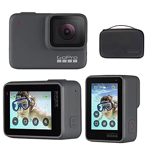 Action Camera 5k Ultra HD Video Camera Impermeabile 30fps 20mp Ultra HD WiFi EIS Camera con Kit di Accessori per Snorkeling Vlogging,Nero