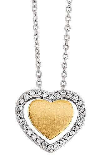 Viventy Silber Damen-Halskette mit Herz-Anhänger 781822