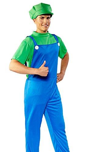 Folat B.V. Verde/Azul Super Fontanero T-Shirt, Peto, Gorro