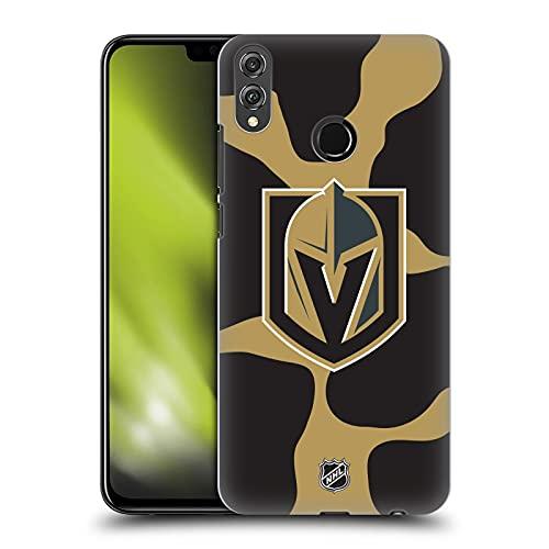 Head Case Designs Licenciado Oficialmente NHL Patrón de Vaca Caballeros Dorados de Vegas Carcasa rígida Compatible con Huawei Honor 8X / View 10 Lite