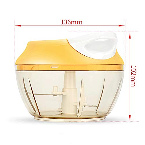 Food Processor-Food Processors best Rated Spice Grinder Garlic Crusher Ginger Garlic Grinder Portable Pull Onion Chopper - Manual Food Processor For Vegetables Garlic Nuts Herbs For Pesto Baby Food