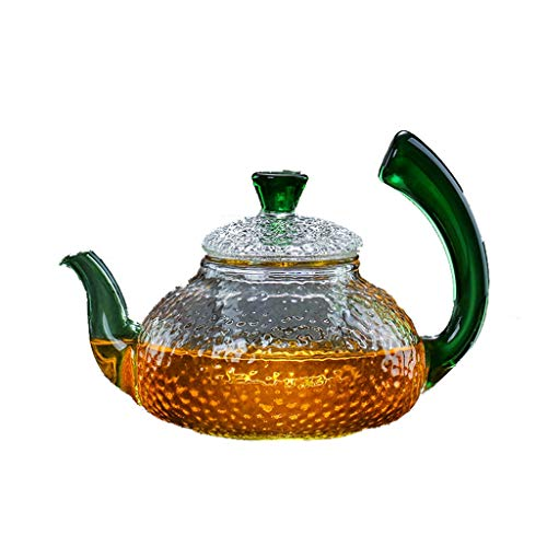 SSRS Teiera ad Alta Temperatura del Fiore del Lato del creatore di tè della teiera della Bolla del Filtro dalla teiera di Vetro del Martello (Size : 650ml)
