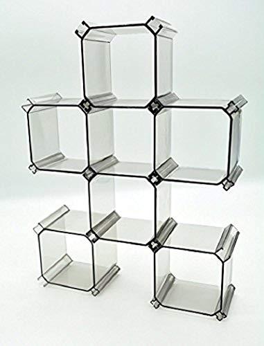 Orchidtent 組み合わせでレイアウト自由自在 多目的収納 魔法収納ケース 仕切りボックス 6個セット 小分け収納 ブラ・下着収納 小物整理整頓 化粧品収納 アクセサリー収納 用途様々   (ブラック)