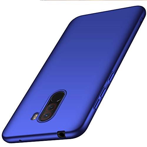 ORNARTO Hülle für Xiaomi Pocophone F1 6,18',F1 Ultra Dünn Schlank Stoßfest, Anti-Scratch FeinMatt Einfach Handyhülle Abdeckung Stoßstange Hardcase für Xiaomi Pocophone F1 (2018) 6,18 Zoll Blau