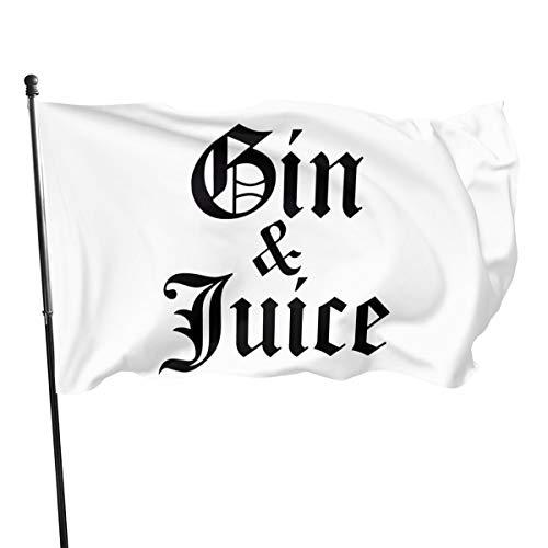 SYDIYIWL Gin & Juice Outdoor-Flagge, dekorative Flagge für Garten, Hinterhof, Haus, Party, 91 x 152 cm