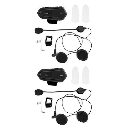 Cuffie con casco, 1 paio Cuffie interfono per cuffia moto Cuffie senza fili Bluetooth Nero