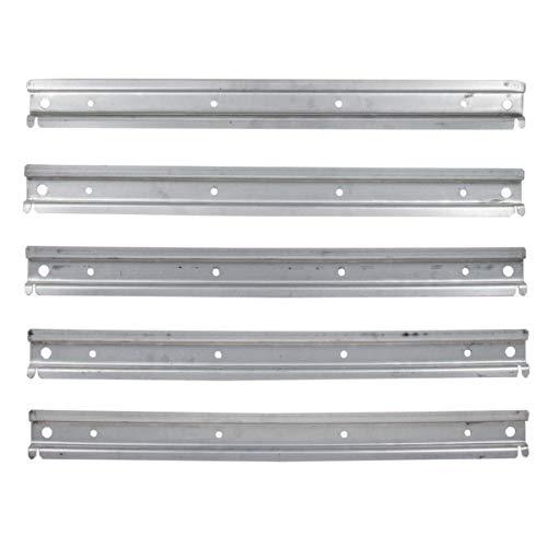 5 Stück universelle Wandleiste aus Metall für Lagerboxen und Schraubenkisten Werkstattwand