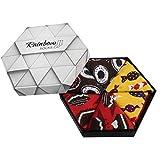 Rainbow Socks - Donna Uomo Novità Box Dolci Calze Scure - 3 Paia - Ciambella Caramelle Torta - Tamaño UE 36-40