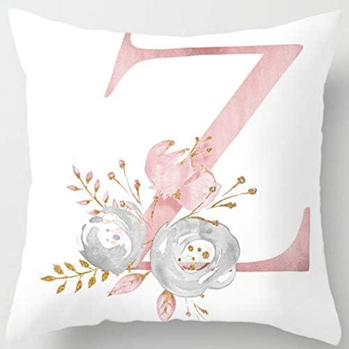 Eanpet Throw Pillow Covers Alphabet Decorative Pillow Cases ABC Letter Flowers Cushion Covers product image