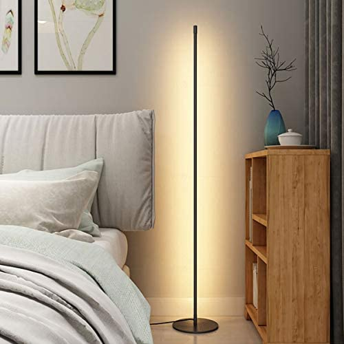 Nordic Minimal Floor Lamp Dimmable Corner Light with Sleek Round Base Amazing Minimalist Warm product image