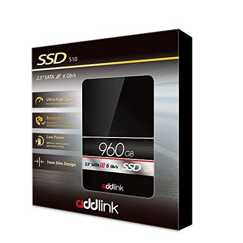 Addlink 960GB Interna Unidad de Estado sólido (SSD)–2,5'7mm SATAIII 6GB/s–S10(ad960gbs10s3)