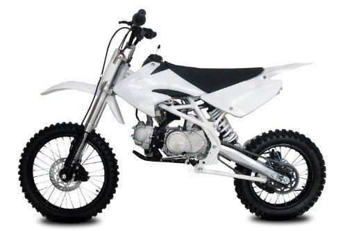 Nitro Motors Dirtbike Thunder 125cc 17/14-4-Gang-Manuell-Kickstarter Crossbike Pitbike (Weiss)