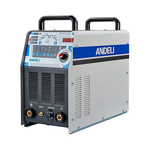 ANDELI AC DC Pulse TIG Soldador TIG MMA & Aluminio Soldadura Inversor Digital Soldadora TIG-250PAC (Paquete 4)