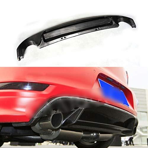 Saxonj Real Carbon Fiber Hinten Lip Spoiler FüR Volkswagen VW Golf 6 VI GTI 2010-2013, Flossen Shark Stil Diffusor StoßStange Guar Hinten Kinn Stoßstange