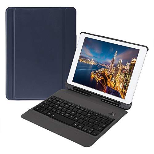Estuche para Teclado Bluetooth, Estuche Colorido portátil con retroiluminación, Diseño ergonómico Múltiples ángulos Impermeable para Oficina en casa(Royal Blue)