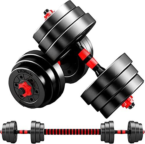 ダンベル HP【最新進化版】AnYoker 5kg×2個セット (10kg)/10kg×2個セット (20kg)/20kg×2個セット (40kg) ポリエチレン製 筋力トレーニング ダイエット シェイプアップ 静音XK01 ((10x2セット)20kg