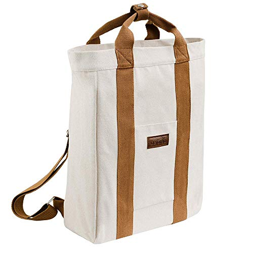 Dejaroo Canvas Travel Laptop Backpack for Women, Men or Kids - Everyday Bag for Professionals, Commuters, School or College fits 15 inch Laptop - Cute Work Bags for Women - Vintage Backpack (Sand)