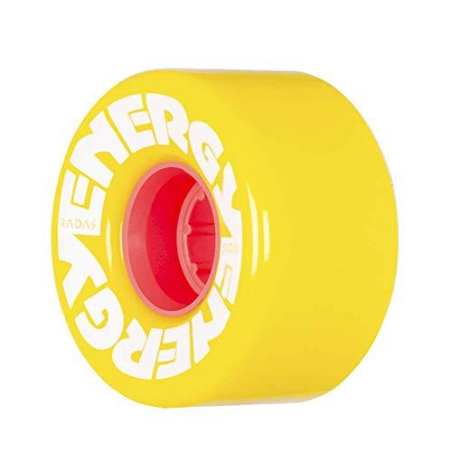 Radar Wheels - Energy 57 - Roller Skate Wheels - 4 Pack of 78A 31mm x 57mm Quad Skate Wheels | Yellow