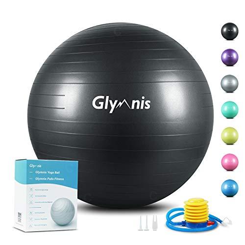 Glymnis Palla Fitness Palla da Ginnastica 55cm/65cm/75cm Anti-Scoppio Carico Massimo di...