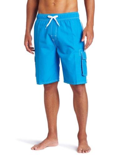 Kanu Surf Men's Barracuda Swim Trunks (Regular & Extended Sizes), Lake Blue, Large